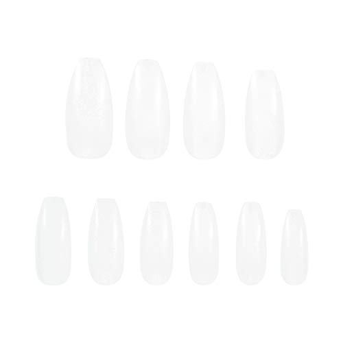 Girls'love talk 500 Stück Künstliche Fingernägel,Natürliche Falsche-Fingernägel Kunstnagel Nagel Fake Nägel Nagelspitzen (Größe 0-9)(Natürliche Farbe)