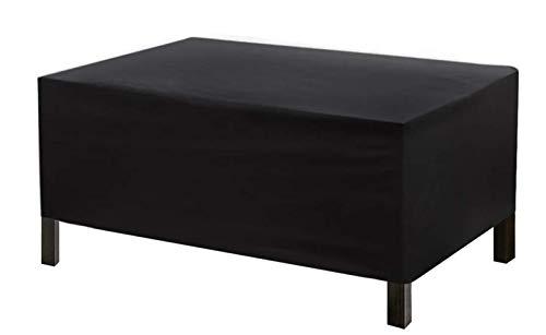 Ydq Housses De Meubles De Jardin Housse pour Table D'extérieur 210D Oxford Tissu Coupe-Vent Imperméable Anti-UV Tables Et Chaises Housse De Meubles(Noir),170 * 94 * 70cm