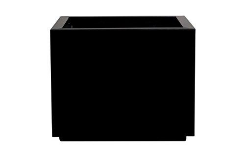 Hobby Flower Steel Plus - Hydrojardinière avec système d'auto-arrosage, 35 x 35 x 35 cm, Noire