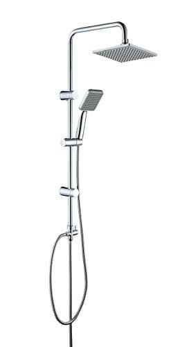 JOHO ABS Duschsystem Duschset Überkopfbrauseset Duschkopf 20x20cm