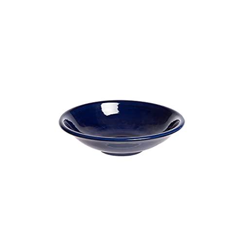 Plato Hondo 23 cm Pintura Cobalto