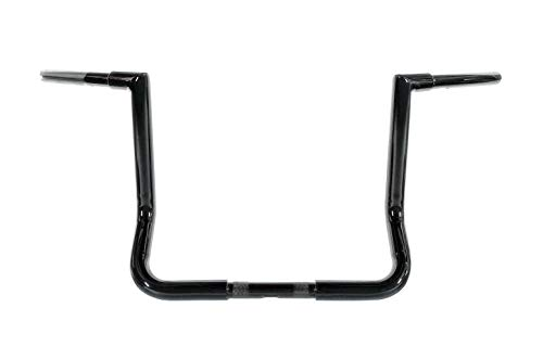 Dominator Industries 1 1/4' Gloss Black 12' Miter Monkey Bar Ape Hanger Handlebar Compatible With 1996-2020 Harley-Davidson Bagger Touring Electra & Street Glide W-ABS W Or W/O HeatedGrip LA-7361-12B