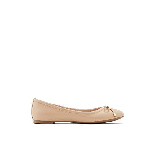 ALDO Women's Unelamma Ballet Flat Shoe, Bone, 11