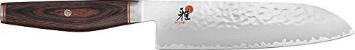 Miyabi 234074-181-0 Santokumesser Kochmesser, Stahl, 180 mm, silber / braun, 37,5 x 7,5 x 2,9 cm