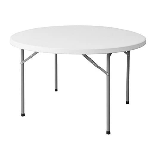Mesa de Catering Plegable Redonda de plástico HDPE Blanca de Ø 152x74 cm - LOLAhome