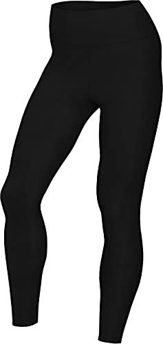 NIKE The Yoga 7/8 Tight Leggings, Black/dk Smoke Grey, 2XL Women's