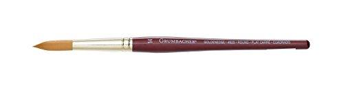 Grumbacher Goldenedge Golden Toray Round Watercolor Brush, Synthetic Bristles, Size 14 (4620.14)
