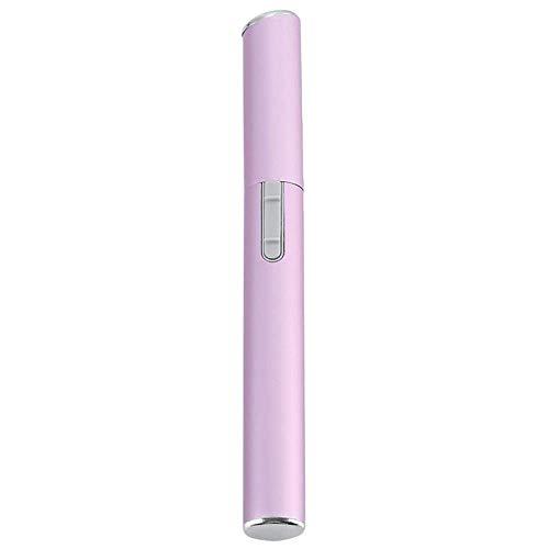 WOHAO Sourcils Tondeuse électrique Sourcils Tondeuse Visage Cheveux Ciseaux Mini Portable Femmes Corps Rasoir Lame de Rasoir Remover épilateur Noir (Color : Pink)