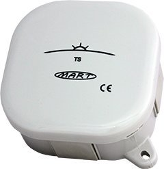 Interruptor crepuscular Mart TS de 21de G galvanisch separado, IP54, 230V 16A 4000W ajustable