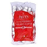 2X Prices Sentinel NightLights, 8 Hour Burn Time, Pack of 50, White