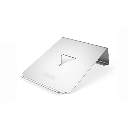 WPBOY Aleación de aluminio Portátil Radiador Portátil Portátil Almohadilla de enfriamiento Plegable Ajustable Notebook Radiador Base (plata)