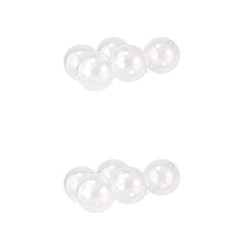 Fenteer 10x Nachfüllbare Acrylkugeln Kunststoffkugeln Bastelkugeln Hochzeits- Geburtstagskugeln Dekokugeln mit Loch zum Aufhängen