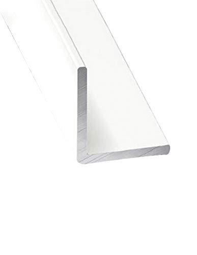 Jardin202 20 mm - Perfil de Aluminio Blanco Angular - x3 unds - 2'10m