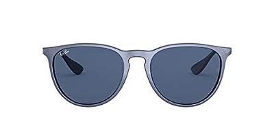 RB4171 Erika Round Sunglasses, Top Metallic VIOLET ON Black/Dark Blue, 54 mm