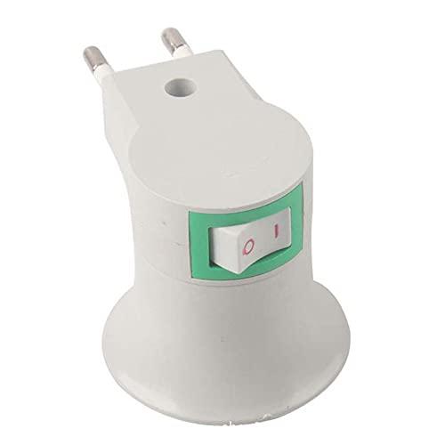 SENZHILINLIGHT Base de Tornillo de Enchufe de Pared E27 Zócalo de lámpara de Pared E27 con Interruptor Base de lámpara de Enchufe Redondo Resistencia a Altas temperaturas