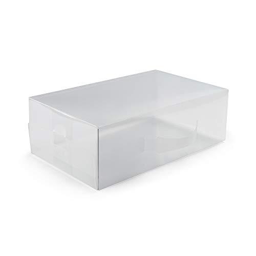 Compactor Home RAN5962 Boîte de Rangement pour Chaussures, Polypropylène, Transparent, Grand