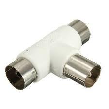 Adaptador de antena para televisión por cable divisor Coaxial de antena coaxial TV Conversor Socket Plug
