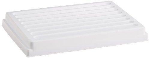 JG Finneran TR100-08 Polystyrene Reservoir Trough Plate, 8 Channels, 56ml Capacity, White (Case of 5)