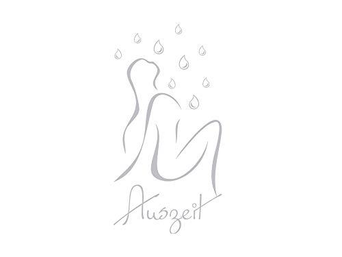 GRAZDesign Fenstertattoo Schriftzug Auszeit mit Frau/Wassertropfen, Fensterfolie für Bad, Glastattoo für Dusche / 110x57cm