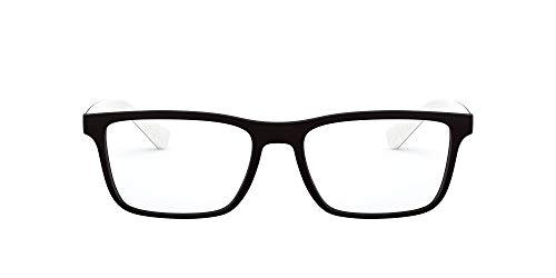 AX Armani Exchange Ax3067 armação retangular para óculos de grau, Preto fosco, lentes de demonstração, 55 mm