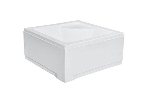 Besco Cuadrado de Profundidad Ducha Bandeja con Panel de 900mm x 900mm, pequeñas, baño * 10años de garantía