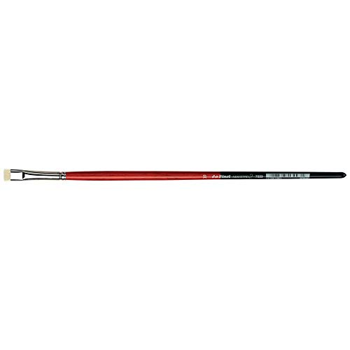 da Vinci Hog Bristle Series 7223 Maestro 2 Artist Paint Brush, Flat Extra-Short with Red Handle, Size 10