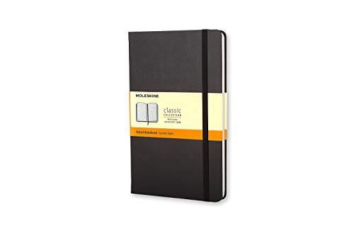 Moleskine Classic Notebook, Taccuino a Righe, Copertina Rigida e Chiusura ad Elastico, Formato Pocket 9 x 14 cm, Colore Nero, 192 Pagine