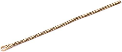 Cadena de serpiente de oro 333, 1,1 mm, 42 cm, oro amarillo macizo de 8 quilates, unisex