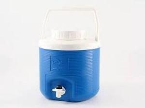 Plastime Borraccia Bottiglia Contenitore termico per acqua Spring Colore azzurro o verde campeggio sport tempo libero mare vacanza MADE IN ITALY (4lt, blu)