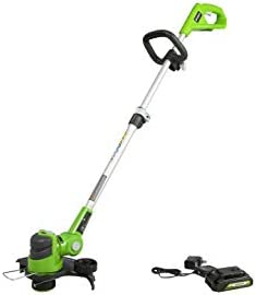 Greenworks 24V 12 inch String Trimmer With 2Ah USB Battery and Charger