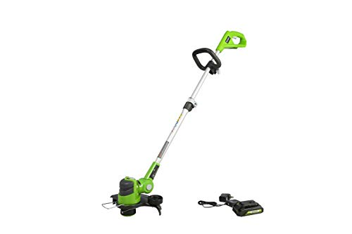 Greenworks 24V 12 inch String Trimmer, 2Ah USB Battery and Charger Included ST24B215