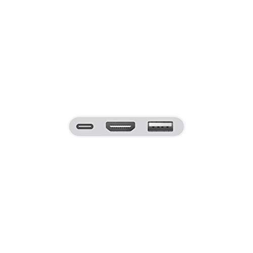 Con l'adattatore multiporta da USB‑C ad AV digitale puoi collegare il tuo Mac o iPad Pro con porta USB‑C a un monitor HDMI, e intanto usare anche un dispositivo USB standard e un cavo di ricarica USB‑C. Questo adattatore ti permette di duplicare tutt...