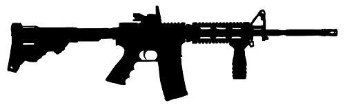 ArtFuzz AR-15 Rifle Laser Cut Out Wall Decor Silhouette Metal Sign 7×23.5