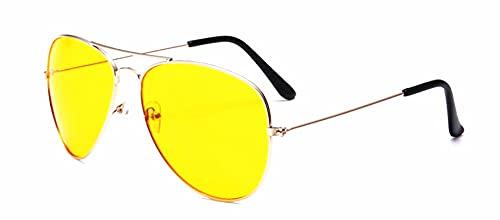 Secuos Sonnenbrille Pilot Sonnenbrillen Frauen Männer Top Luxus Sonnenbrille Für Frauen Retro Outdoor Fahren Uv400 Goldyellow