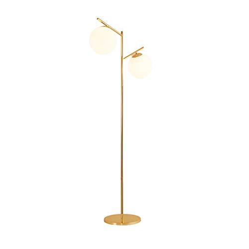 LDD-XL Lampadaire Bronze Lampadaire d'étude Minimaliste américain Protection des Yeux Lecture Salon Lampe de Table Verticale Lampadaire Chambre