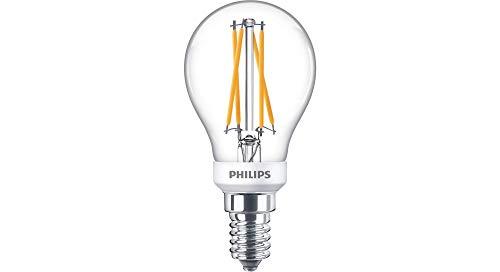 Philips LED WarmGlow E14 Lampe, 470 Lumen entsprechen 40W, hohe Farbwiedergabe, warmweiß (2200 - 2700Kelvin), dimmbar, klar