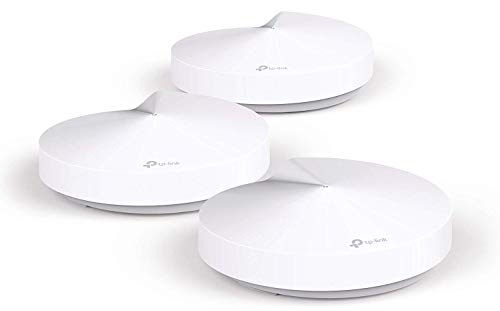 TP-Link Deco Whole Home Mesh WiFi System – Up to 5,500 Sq. Ft. Coverage, WiFi Router/WiFi Extender Replacement, AC1300 Gigabit Ports, Parental Controls/Anitivirus, Seamless Roaming (Deco M5 3-Pack)