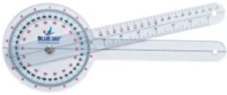 Blue Jay 'Take a Range Check' Clear Plastic Goniometer - 360 Deg, 12 in. Goniometer, Physical Therapy Goniometer with ISO Accuracy, Linear Moving Arm, Clear Gauging Angle. Physical Therapy Aids
