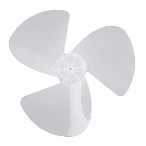 XUNLAN Hoja de ventilador duradera de 40,6 cm extraíble con tres hojas de plástico para colocar en pie de mesa de pedestal, ventilador de hogar, reemplazable (color: blanco B)