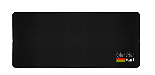 Extended Coverage Large Long Wide 27 X 12 Inches Mouse Pad - Silky Smooth Surface for Precise Mouse Movements - Anti Slip Rubber Base - Stitched Edges Long Last Mat (27x12, Black)