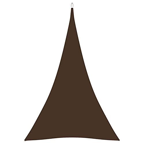 Tidyard Toldo de Vela Triangular de Tela Oxford marrón 3x4x4 m   Toldo Vela de Sombra Protección Rayos UV Vela de Sombra para Terraza Jardín Camping de Tela Oxford