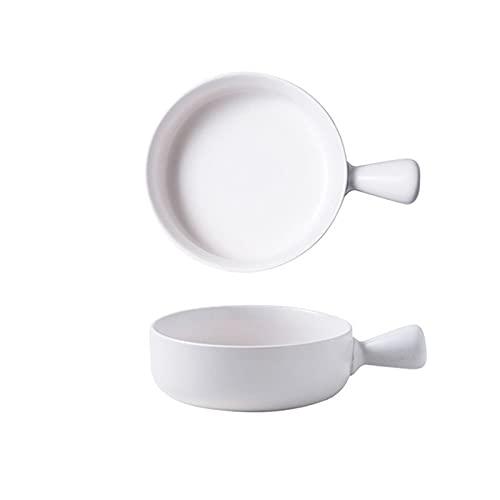 Platos para hornear con esmalte de cerámica con asa, cuencos de ensalada, queso, arroz al horno, cacerola para tartas de lasaña (tamaño: como se muestra en la imagen; color: 7)