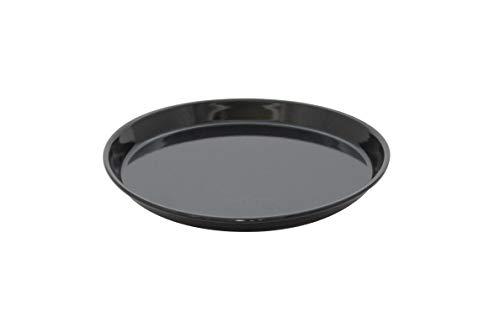 FEPA Pizzablech, 2er Set, rund, antihaftbeschichtet, Pizza & Flammkuchen, Carbonstahl, Pizzaform, ∅ 28 cm, schwarz
