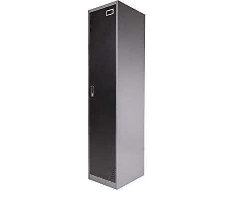 Ondis24 B-Ware Spind Stahl-Kleiderschrank Garderobenschrank, 2 Fachböden, Kleiderstange und Kleiderhaken