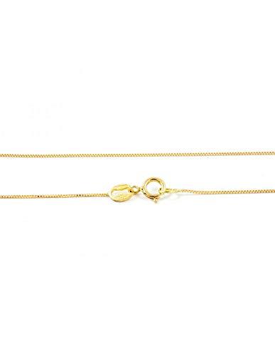18ct geel goud Venetiaanse ketting (40 cm)
