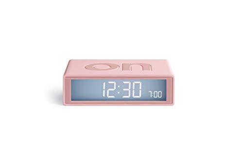 Lexon Flip Plus Travel Reversible LCD Alarm Clock Radio Controlled - Pink