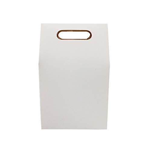 SHUAISHUAI 50 unids/Lote Postre Caja de Embalaje Boda marrón y Blanco Kraft Bolsa de Papel en Blanco Cajas de Regalo de cumpleaños Bolsas de Caramelo Suministros de Fiesta Hermoso empaque