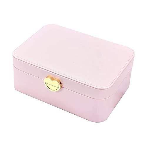 SSHA Joyero Mini organizador de caja de joyería, caja de almacenamiento de joyas de viaje, pequeña caja de joyería portátil para anillos, pendiente, collares Organizador de joyería Organizador de joya
