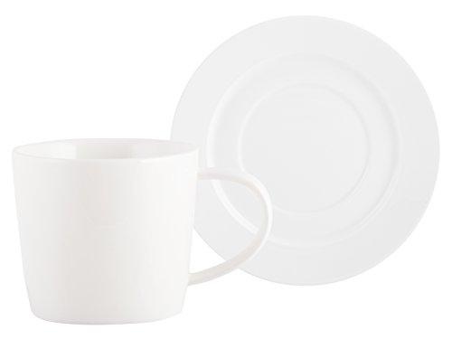 M vonMikasaTeetasse und Untertasse aus Porzellan, 250 ml (8 fl oz)