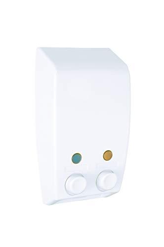 Wenko Dispensador de Gel 0.45 L, Blanco, 8x13.5x25 cm, 2 Unidades